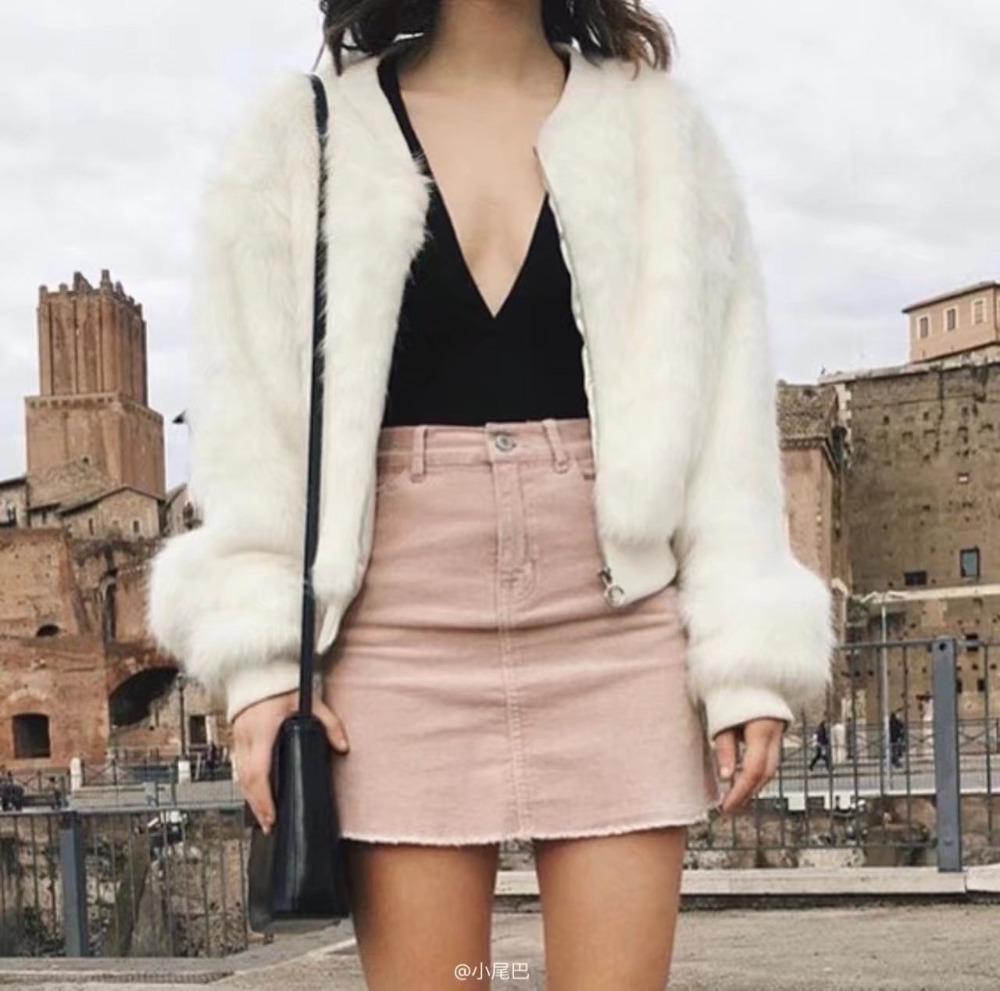 HTB1Q 8mSFXXXXaSaXXXq6xXFXXX4 - Pink pencil skirt zipper mini skirts womens PTC 201