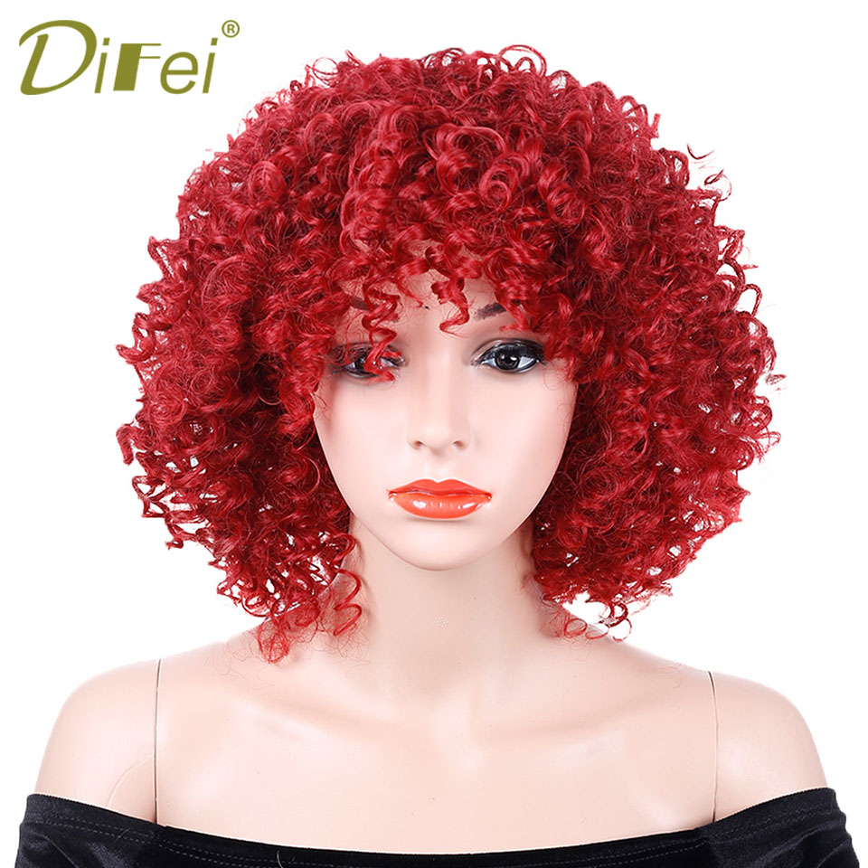 Aliexpresscom  Buy Afro Kinky Curly Wig Red Hair Costume Halloween Party High Temperature