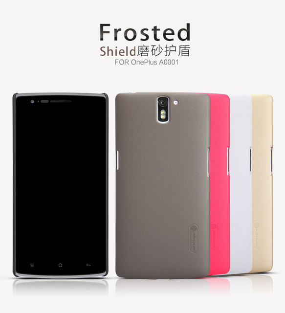 OnePlus A0001 Case Cover Nillkin Frosted Shield Hard Armor Case For OnePlus One A0001 1+ Gift Screen Protector