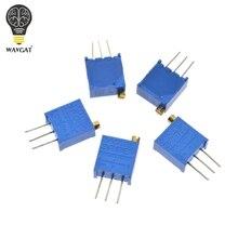3296 Вт 50 100 200 500 1K 2K 5K 10K 20K 50K 100K 200K 500K 1M Ом многооборотный Подстроечный резистор потенциометр Высокая точность переменный резистор