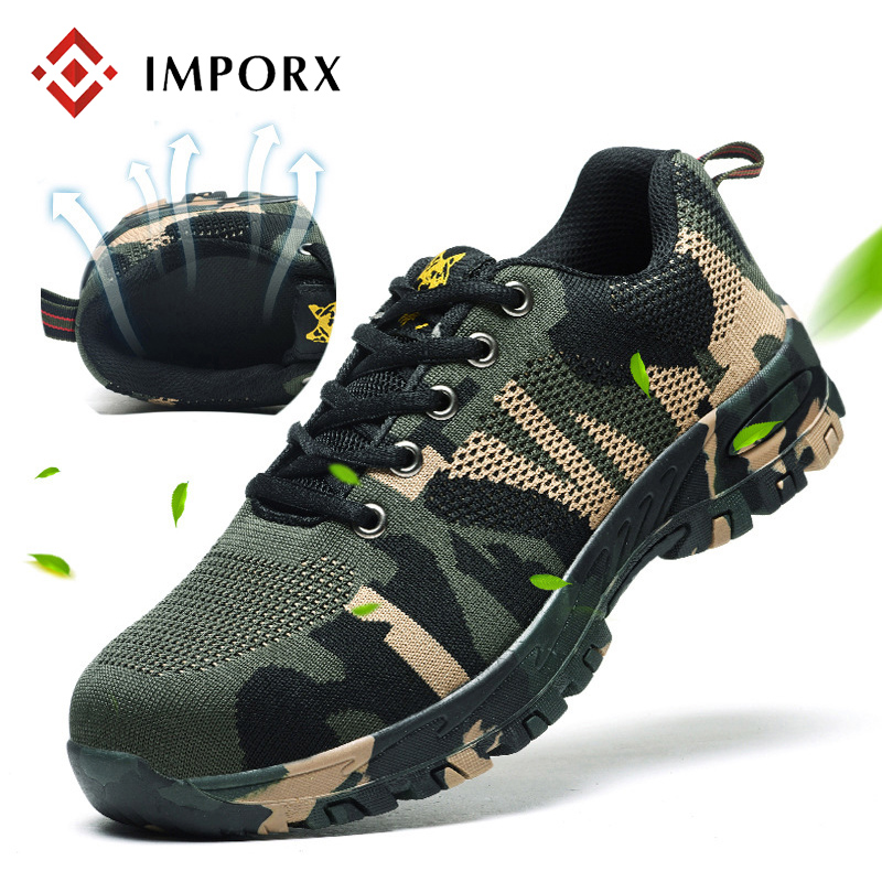 2018 New Outdoor Men Work Shoes Steel Toe Cap Military Work & Safety Boots Shoes Men Camouflage Army Puncture Proof Boots zyyzym men work safety shoes steel toe cap casual shoes men non slip puncture outdoor boots