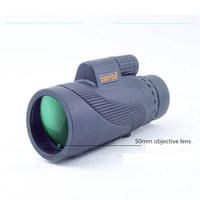 AIBOULLY Monocular 12X50mm Handheld Telescope Hunting Tool Bird Watching Eyepiece See a Concert 1000 Meter Long Distance