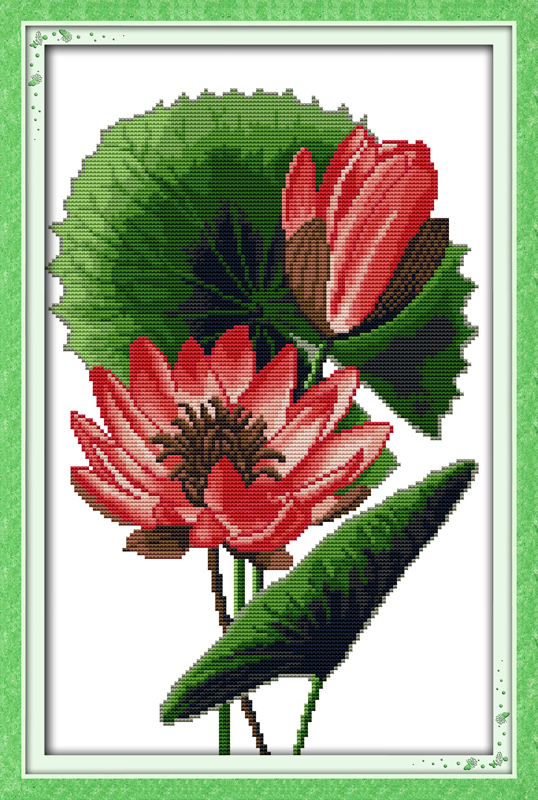 Вышивка крестом экзотических цветов