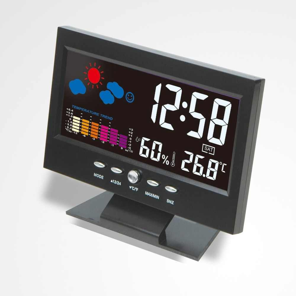 Wireless Weather Station Forecast Digital Table Clock Barometer Thermometer Hygrometer Monitor Lcd Display Alarm