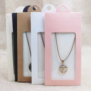 Image 4 - 50PCS various color gift package& display window box candy box with hanger necklace /earring jewelry packing window box