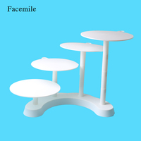 Facemile 4 Layer Wedding Party Cake Rack Stair Stepping Multilayer Plastic Display Cupcake Stand For Home Kitchen Commercial