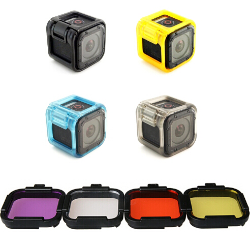 New Clownfish Action Camera Lens Cap Protection Cover Case Protect Border Protective Diving UV Filter For Gopro Hero 5 4 Session