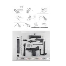 1:3 Submachine Gun Model Toys For Children M10 Metal Model Submachine 1 3 barrett m82a1 metal model gun souvenir toys metal gun can not shoot