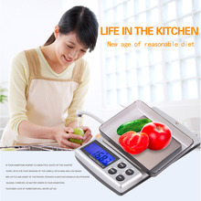1Pc 2000g x 0.1g Mini Pocket Gram Electronic Digital Jewelry Scale Accurate Weighing Kitchen Scales Balance with LCD Display