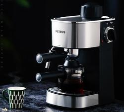 Petrus Italian 5Bar Pressure Steam Semi-automatic Espresso Coffee Machine Home Milk Bubble Coffee Makers DIY 240ml free shipping