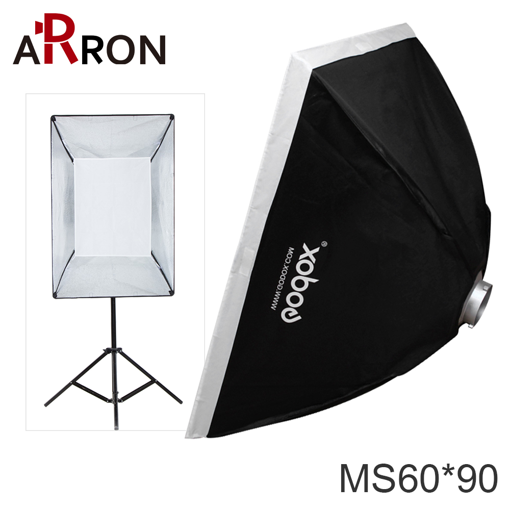 Arron Godox MS60*90 60x90cm Photo Studio Softbox Soft Box With Universal Mount For Studio Flash Strobe Free Shipping