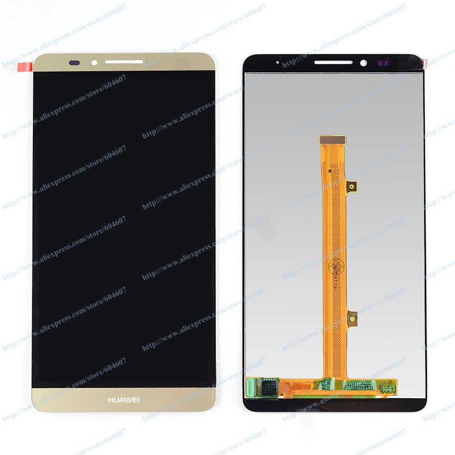 ФОТО New OEM Gold Replace Touch screen with Digitizer+LCD Display Assembly For Huawei Mate 7 MT7 Phone