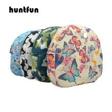 Huntfun novo floral composto sarja pano impermeável forro interno inserir zíper bolso para o saco obag lua luz para o lua luz