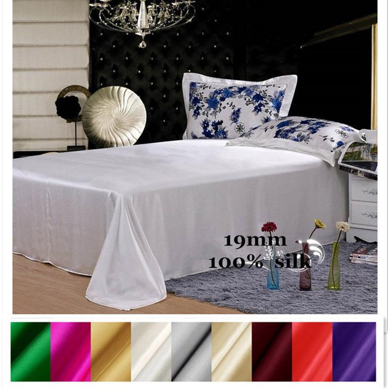 Soie Drap Plat 1 pc 100% Soie Du Mûrier 19mm Multicolore Solide Couleur ordre Personnalisé est acceptable ls0114-19001