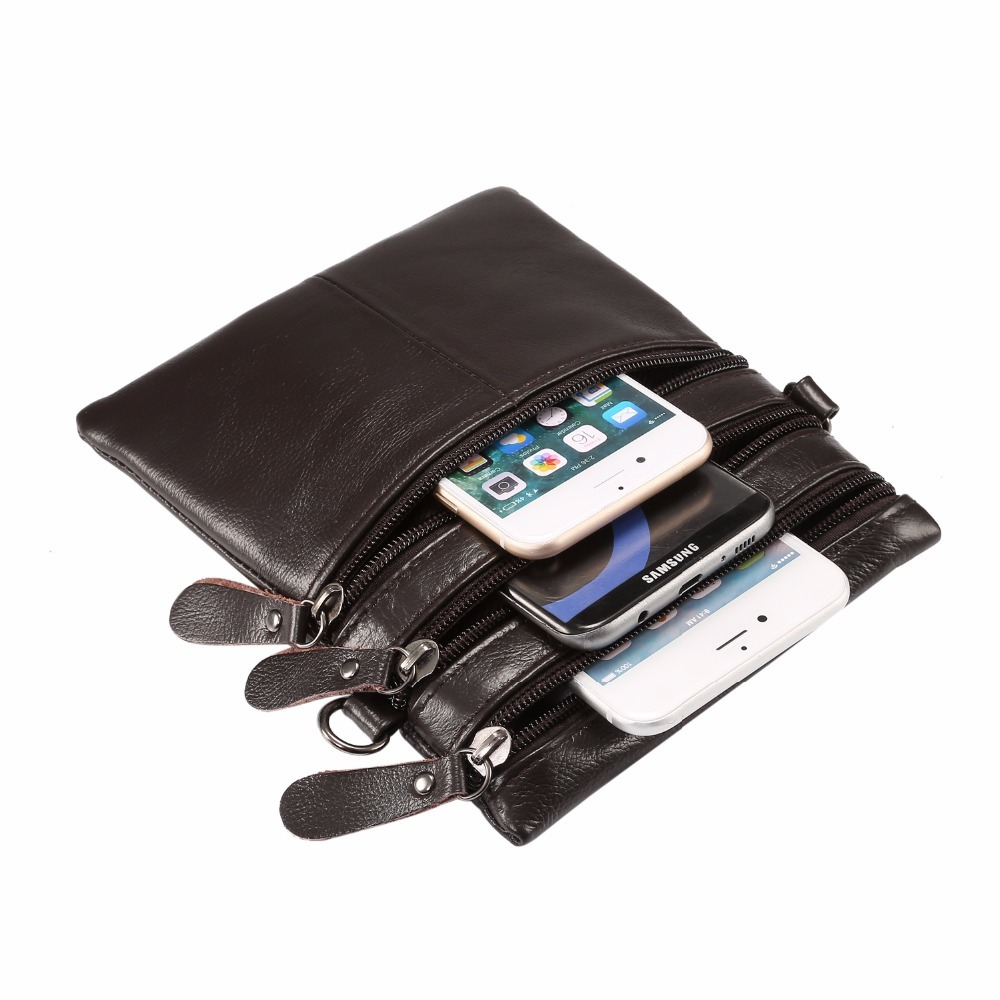 Universal Genuine 4 Pockets PU Leather Wallet Belt Pouch Phone Cases For Samsung iPhone
