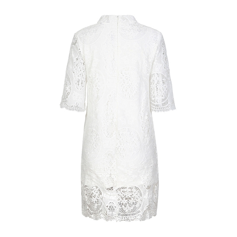 HDY Summer Dress Half Sleeve Ladies Summer Dresses Casual Lace Dress Mini Hollow Out White Lace Dresses for Women 2018 13