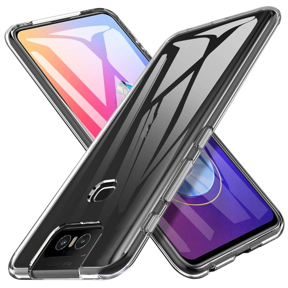Crystal Clear <font><b>Case</b></font> for <font><b>Asus</b></font> <font><b>Zenfone</b></font> <font><b>6</b></font> ZS630KL Cover Soft Silicone Transparent Protective TPU Cover for <font><b>Asus</b></font> <font><b>Zenfone</b></font> <font><b>6</b></font> <font><b>2019</b></font> <font><b>Case</b></font> image