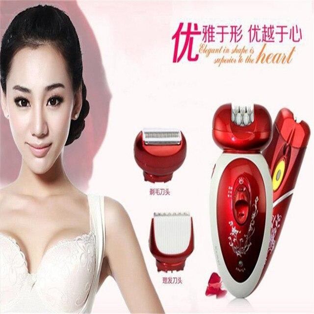 Kemei триммер Аккумуляторная Бритва Эпилятор для удаления волос Уход За Кожей Леди Эпилятор бритья Электрический Эпилятор КМ-3048 Для подмышек