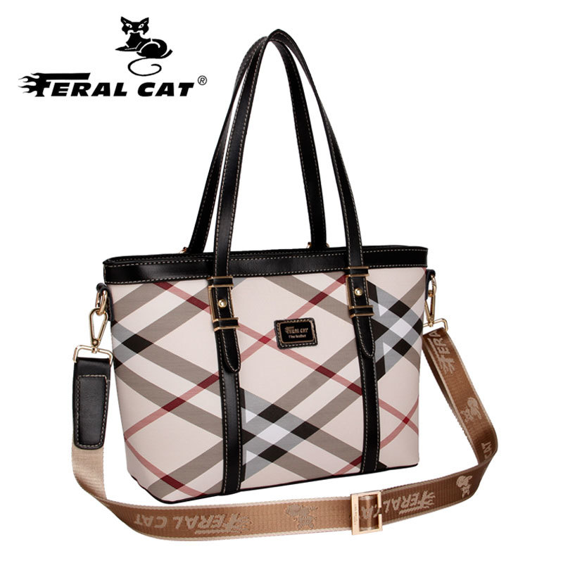 ФОТО 2017 New Casual Stylish Inspired Tote Shoulder Famous Brands Hand Bag Womens Designer Plaid Handbags Free Shipping 6017