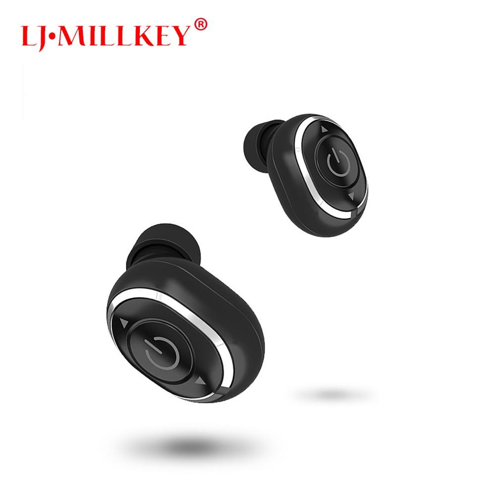 Waterproof True Sport Wireless Earbuds TWS Mini Bluetooth font b Earphone b font Earpiece with Power