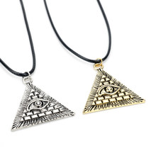MQCHUN Anime Yugioh Millenium Pendant Jewelry Yu-Gi-Oh Necklace Yu Gi Oh Cosplay Pyramid Egyptian Eye Of Horus Necklace -30(China)
