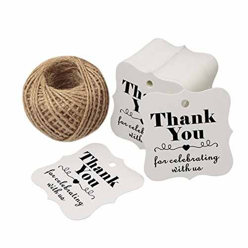 a9f3c1fceded 100pcs Thank You for Celebrating with Us paper tags for baby shower ...