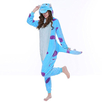 Monster Sullivan Sully Animal Kigurumi Cosplay Costume Adult Unisex Pajamas Onesie