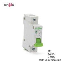 Миниатюрный автоматический выключатель 1A 6A 10A 16A 25a 32A 40a 63a MCB 110 кА Тип C переключатель переменного тока 230 В/400 В/в с сертификатом CE