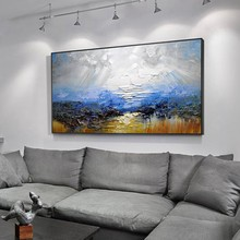 Drawing knife painting oil painting, abstract on canvas 100% handmade color painting art modern art for home wall decoration(China)