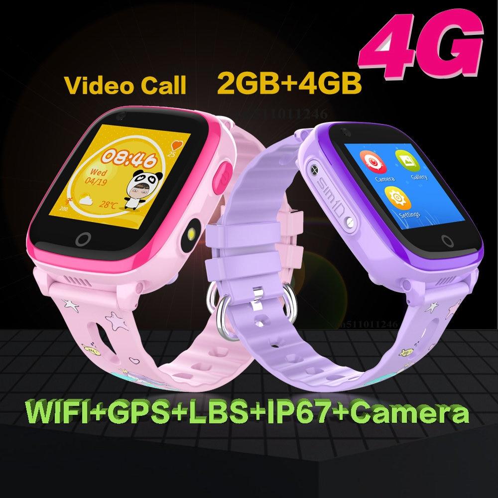 IP67 Waterproof Kids Smart watch 4G Remote Camera GPS WIFI Kids Children Students Wrist watch SOS