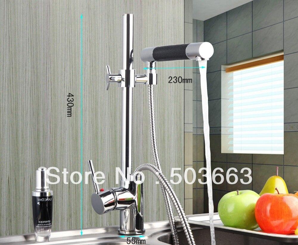 OUBONI Modern New Swivel Spout Hand Sprayer Kitchen Sink Faucet torneira da cozinha 92350 Hot and