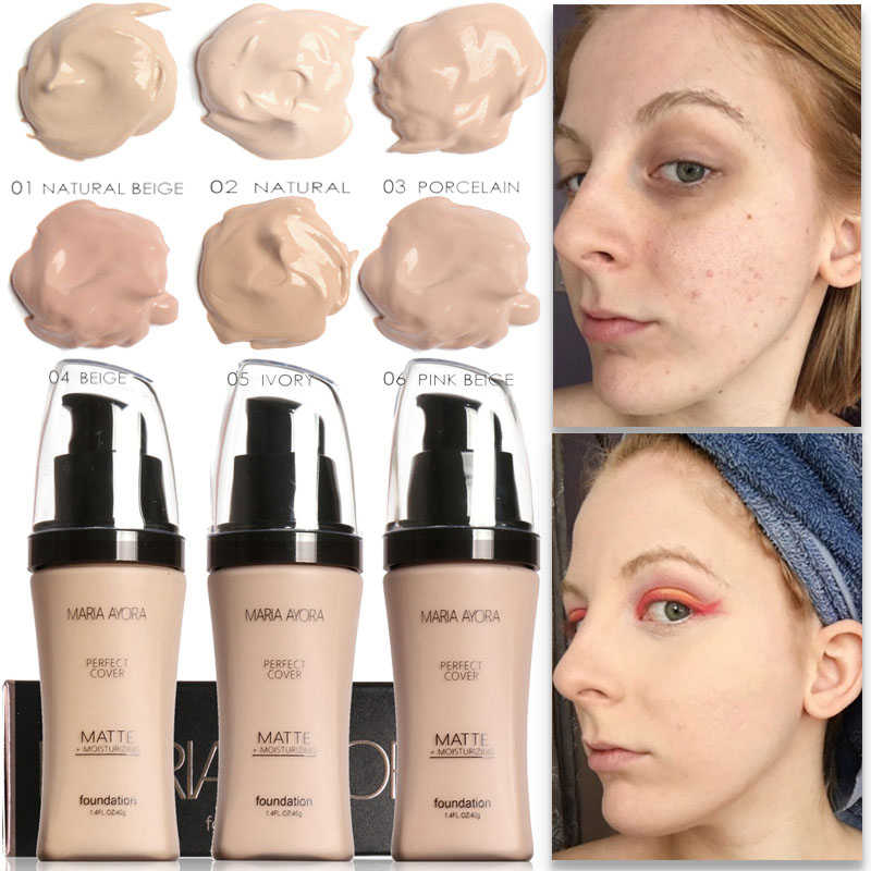 Face Foundation Cream Concealer Brighten Waterproof Full Coverage Professional Makeup Facial Matte Base Make Up