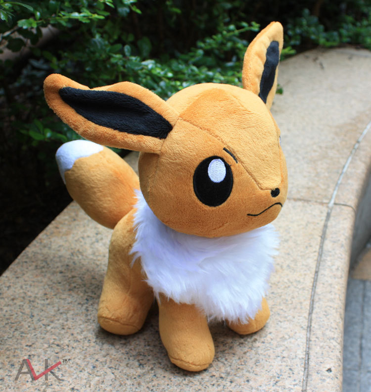 Cute cartoon 23cm big size stand Eevee Plush Toys Soft Stuffed Animal Doll with Tag for Kids Christmas gift
