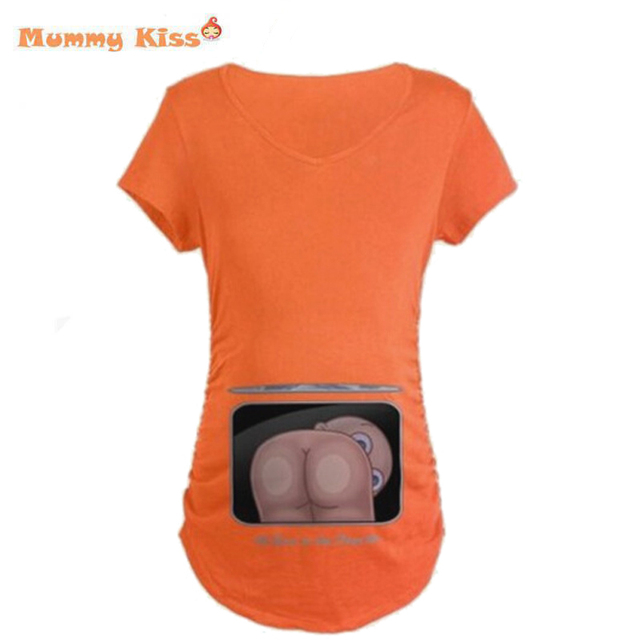 Maternity Shirt Pregnant Women Short Sleeve Maternities Digital Print Clothes T-shirts European Big Size Woman Clothing tyh50576