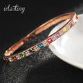 high quality brands wedding party jewelry rose gold filled multicolor luxury designers bangles made with SWA elements crystal