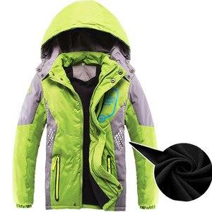 Image 3 - 어린이 겉옷 따뜻한 코트 스포티 한 아이 옷 방수 windproof thicken boys 소녀 면화 패딩 자켓 가을, 겨울