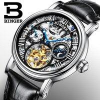 Suisse BINGER montres hommes marque de luxe Tourbillon Relogio Masculino résistant à l'eau Mécanique Montres B-1171-3