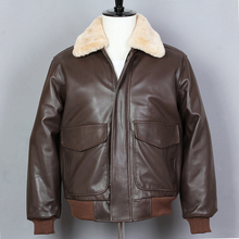 AVIREXFLY Avirex fly Air Force Flight G1 Fur Collar Sheepskin