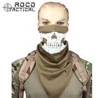 ניאון רעיוני ROCOTACTICAL לנשימה טקטי SWAT טקטי הוד מלא פנים כובע גרב רפאים גולגולת מסכת Camo פנים ויאל