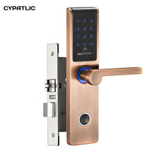 High tech door locks apartment combination lock touch keypad for door access metal outdoor keypad access control door locks door bell for home office security look pick tool