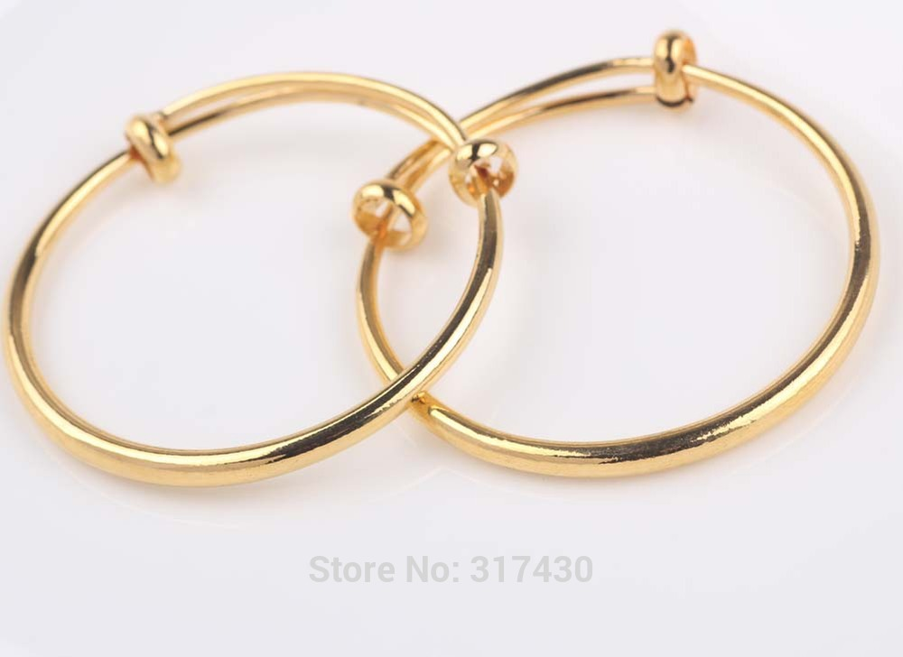 Vogue 24k Yellow Gold Filled Baby\'s Bracelet bangle Smooth Plain ...