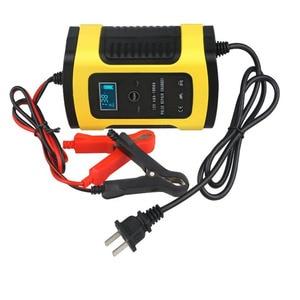 Image 1 - 全自動カーモトバッテリ充電器 110 に 220 に 12V 6A 液晶スマート高速パワー充電オート湿式ドライ鉛 Ac