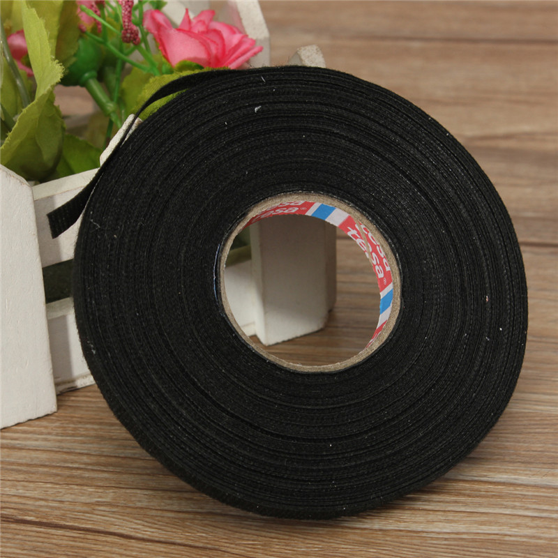 high quality wire harness tape promotion shop for high quality lowest price natural rubber car wiring loom 9mm x 25m harness adhesive cloth fabric black tape cable loom natural rubber