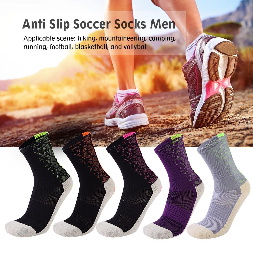 New New Quality Professional Cycling Socks Thickened Mid calf Length Football Socks Anti Slip Soccer Socks For Men Size 39 44