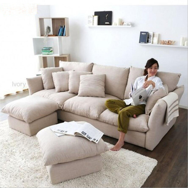 Ordinaire Webetop New Arrival Feather Cloth Sofa Modern Style Furniture Set Living  Room Sofas Sofa Set Living