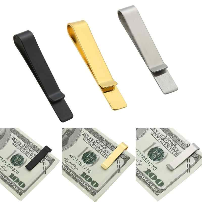 Top Quality Metal Money Clips Wallet Folder Clip Collar 100% Stainless Steel Wallet Cash Card Money Holder Bill Clip Z95