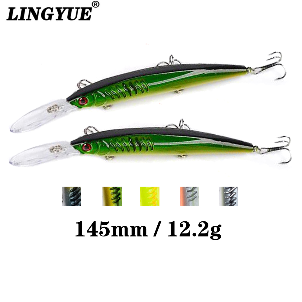 1pc Long Tongue Minnow Isca Artificial Wobblers Pesca 145mm/12.2g Sinking Crankbaits Quality Fishing Lures