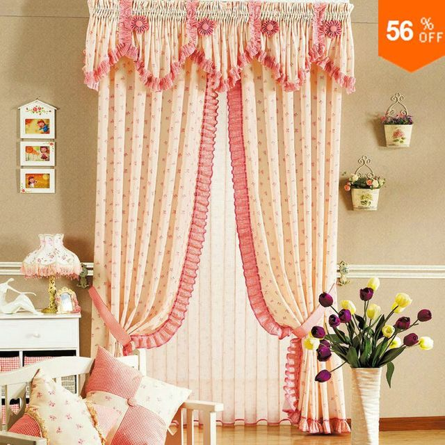 Hot The curtain finished curtain real quality rustic child printed cloth the blind Curtains the cloth roman blinds lace curtains