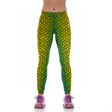 NEW KYK1042 Sexy Girl Women Mermaid Fish Scale 3D Prints High Waist Running Fitness Sport Leggings Jogger Yoga Pants
