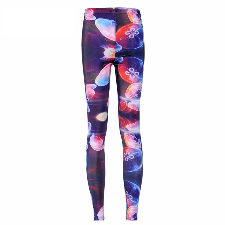New Arrival ! Women Galaxy Designed digital Printed Capris supernova sale Jellyfish Rainbow Leggings free shipping